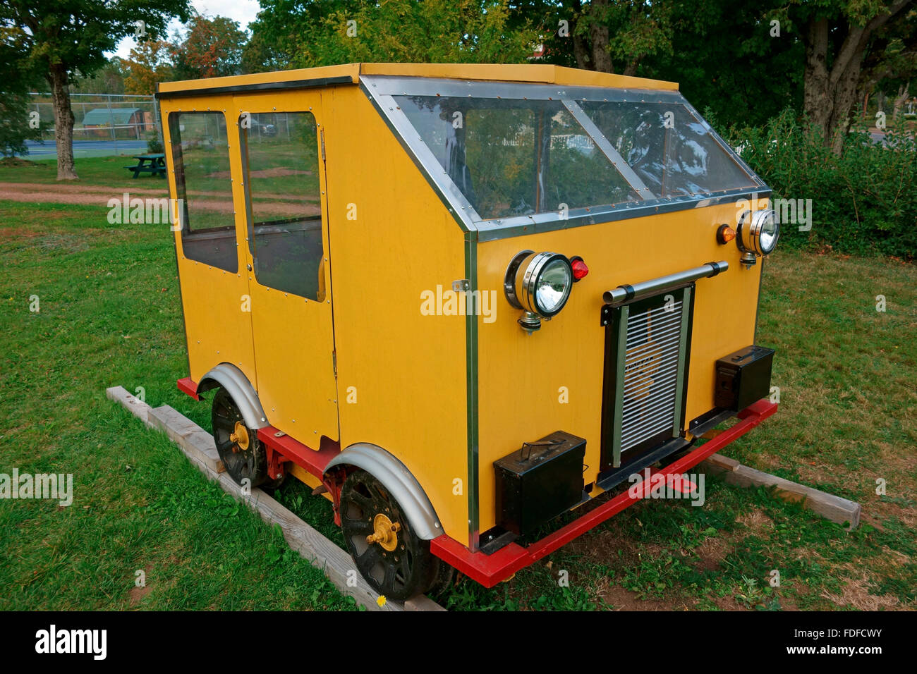 Sylvester 21 light weight section truck for work on railroads - Stock Image