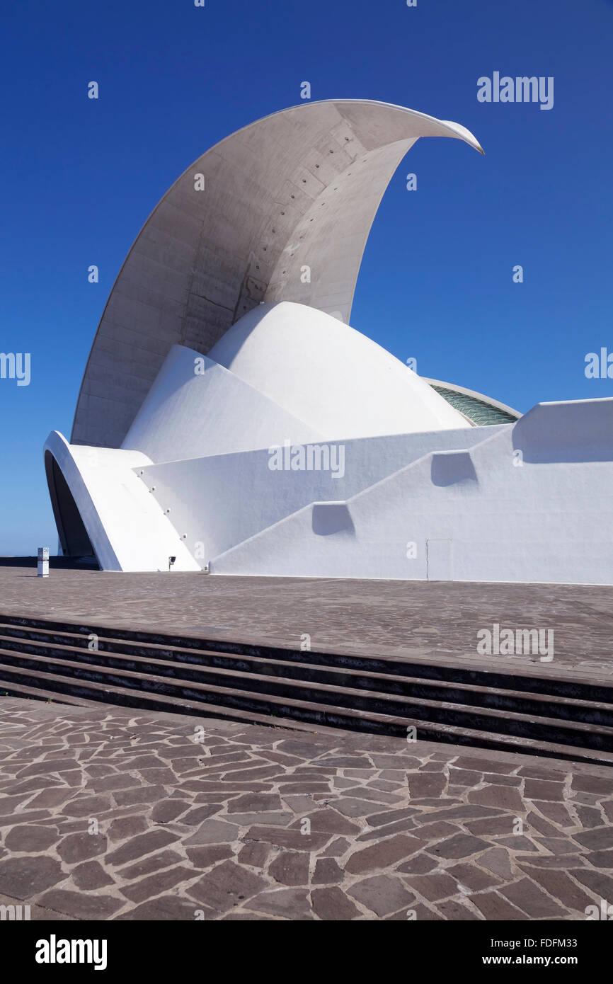 Auditorium Auditorio de Tenerife, Santa Cruz Island, Tenerife, Canary Islands, Spain - Stock Image