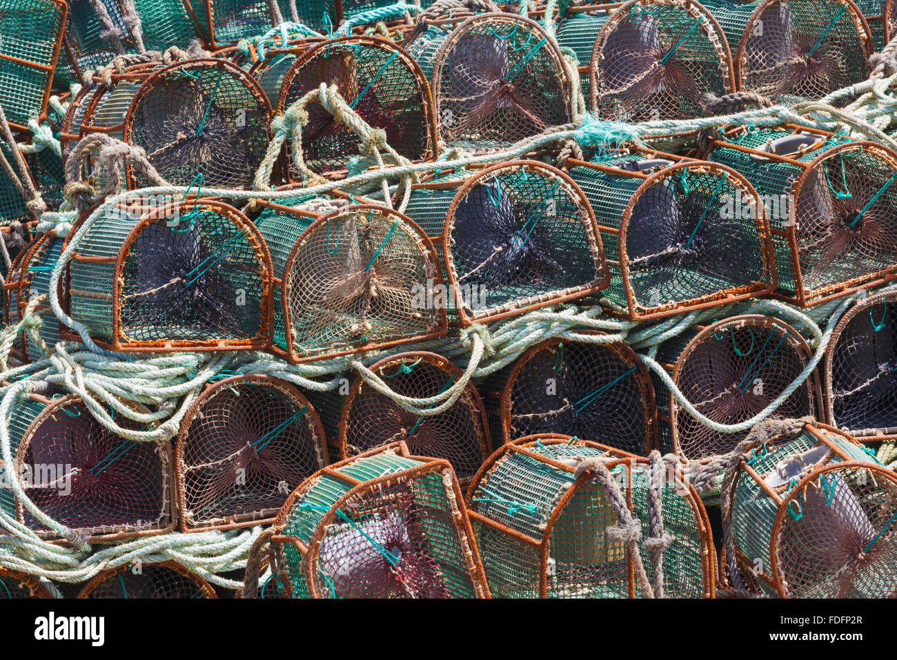 Lobster pots, Galicia, Spain. - Stock Image