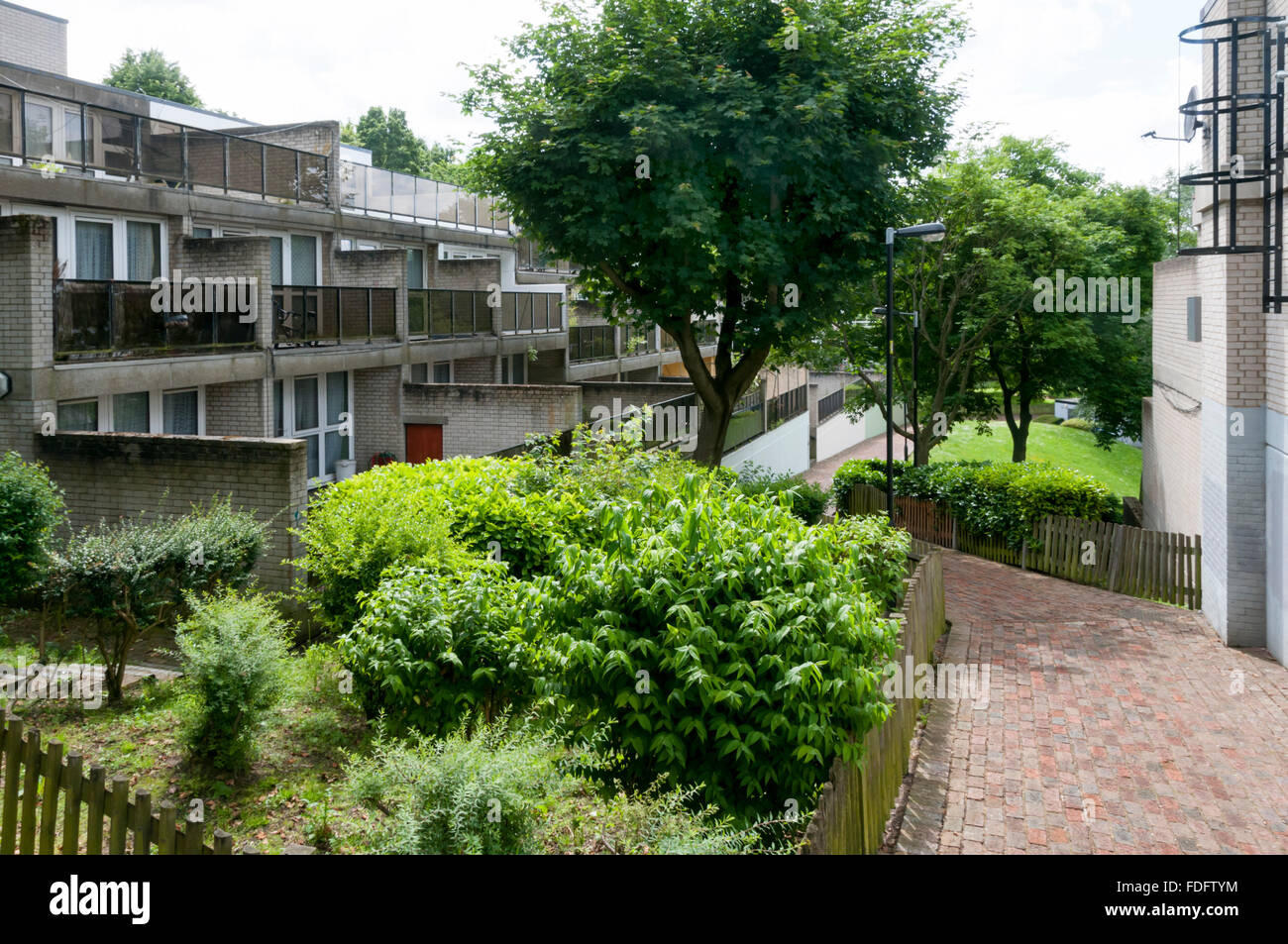 The 1960s and 1970s Central Hill Estate, Lambeth. - Stock Image