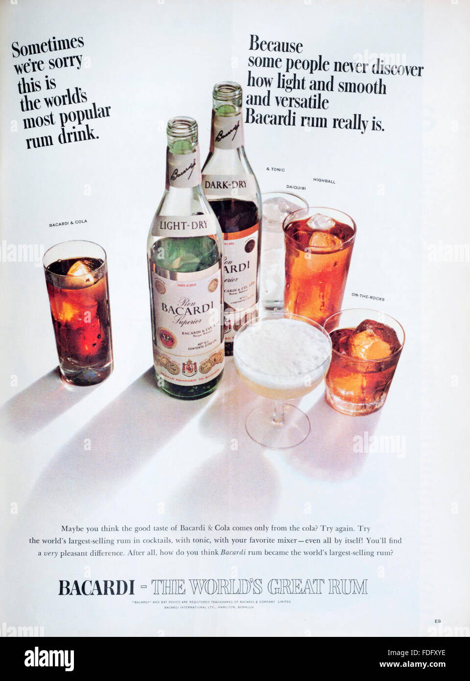 sexism in the bacardi liquor advertisement About bacardi ocho created in 1862, bacardí ocho remained the sole preserve of the bacardí family for seven generations used only for the most special occasions, this golden sipping rum is one of the oldest private rum blends in the world.