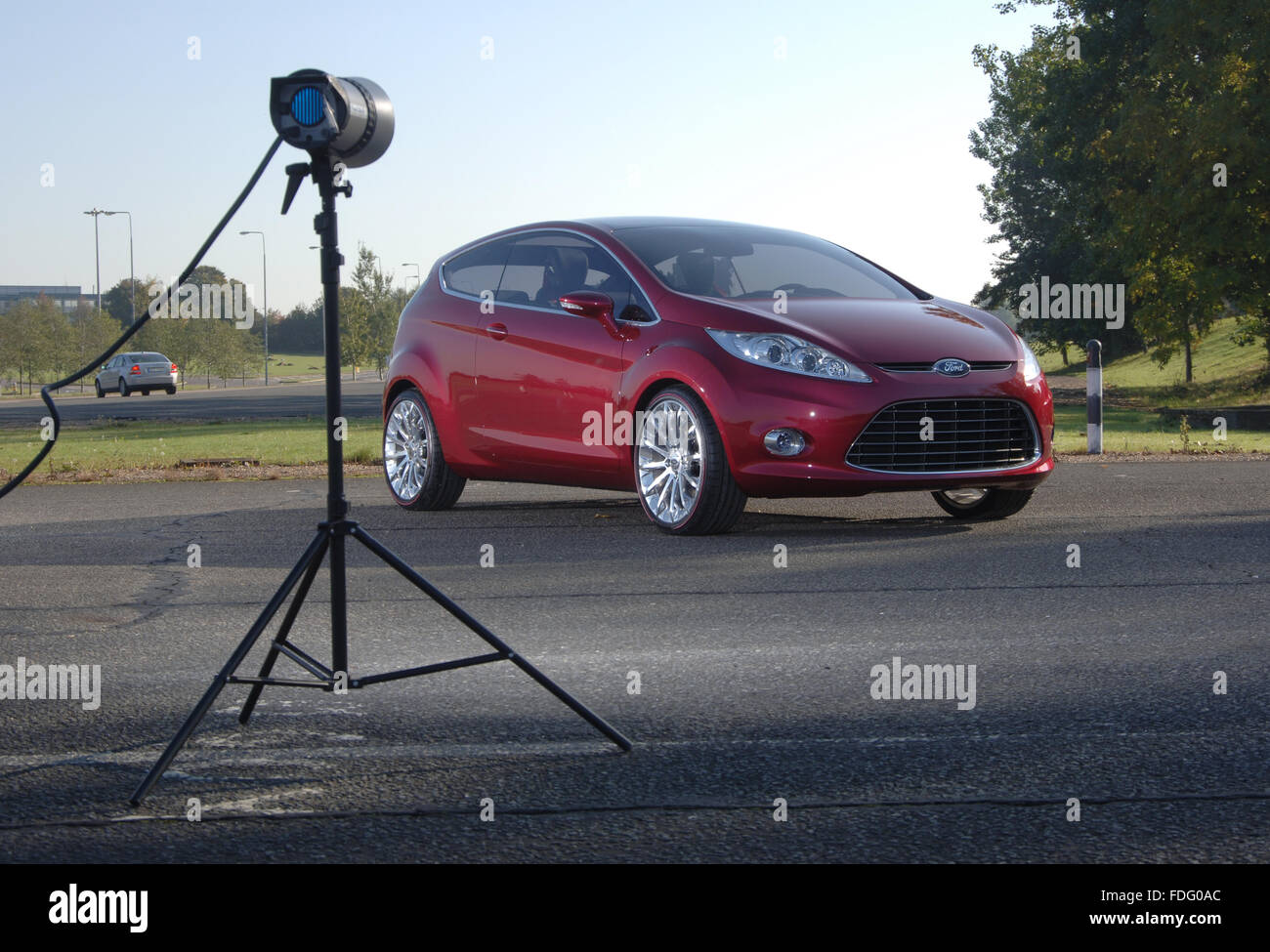 2007 Ford Verve concept car which became the Mk6 sixth generation Ford Fiesta Stock Photo
