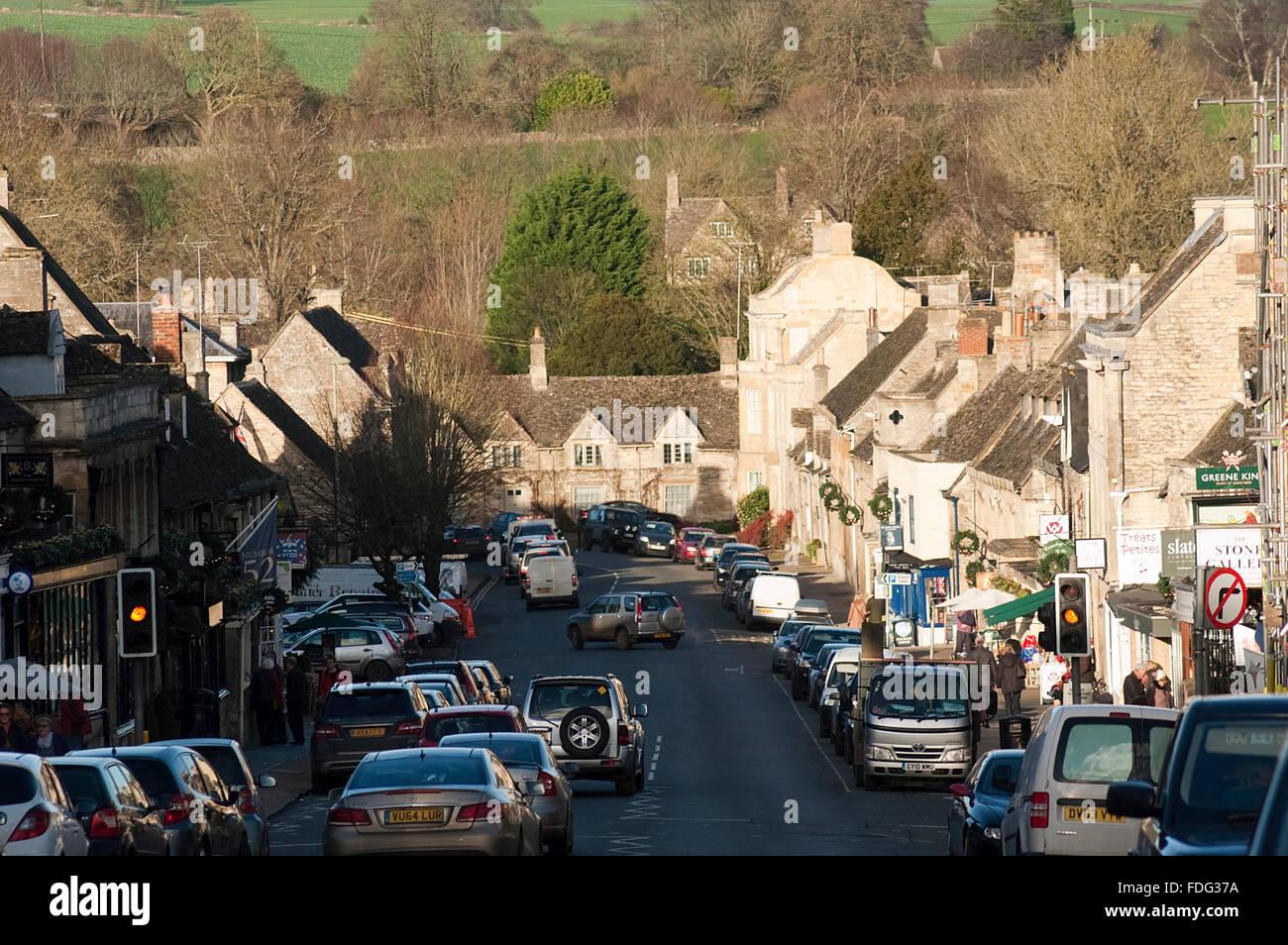 Burford High Street - Stock Image