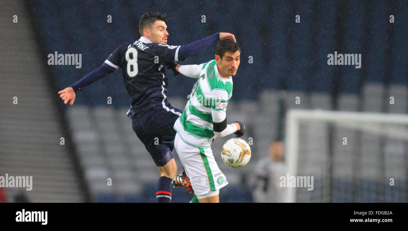 Hampden Park, Glasgow, Scotland. 31st Jan, 2016. Scottish League Cup Semi Final. Ross County versus Celtic. Ian - Stock Image