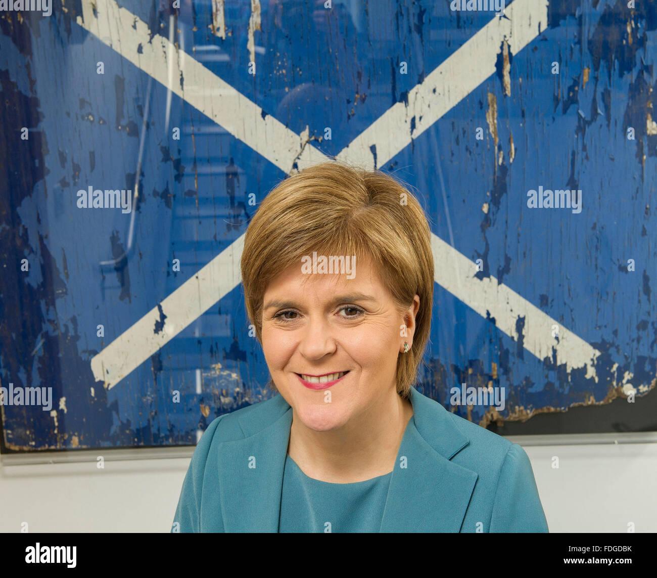 IR20150429. 29/04/15. Nicola Sturgeon, First Minister, Politics, Scotland, SNP. UK General Election 2015, Scotland's - Stock Image