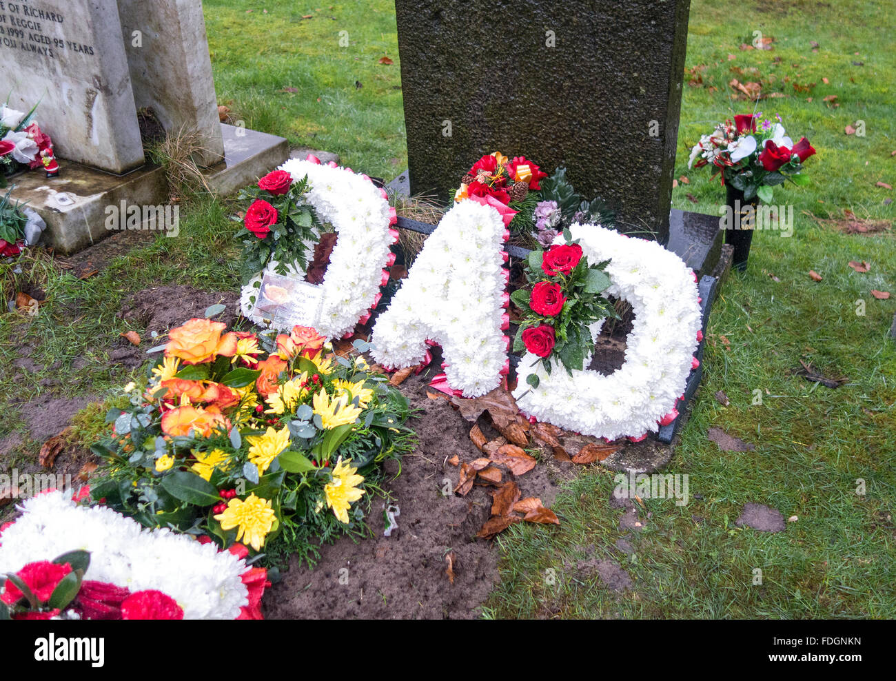 Flowers At A Recent Funeral Stock Photo 94410617 Alamy