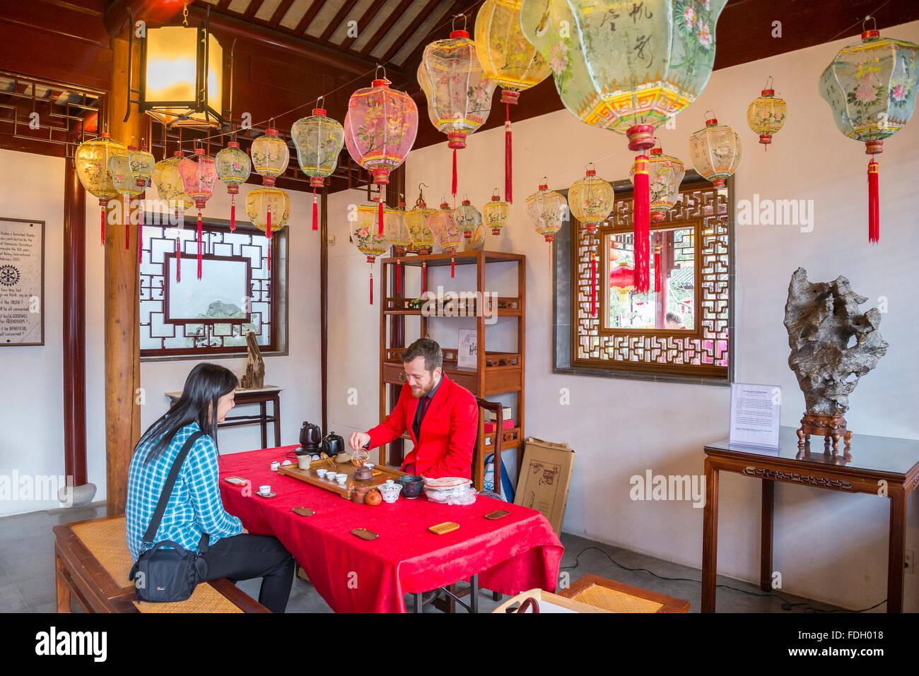 Dr. Sun Yat Sen, Classical Chinese Garden, Vancouver, British Columbia, Canada - Stock Image