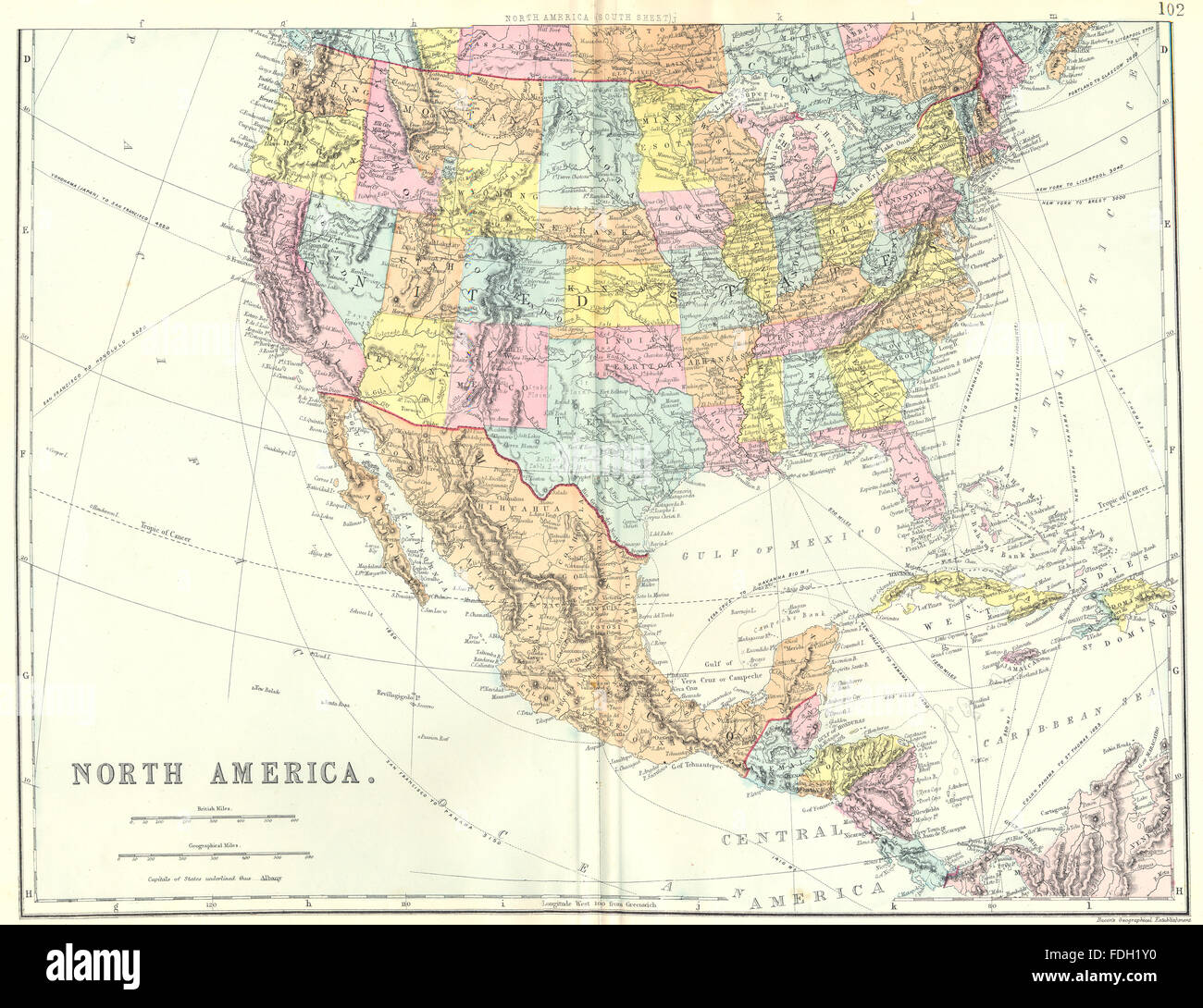 North South America Map Mexico Stock Photos North South America
