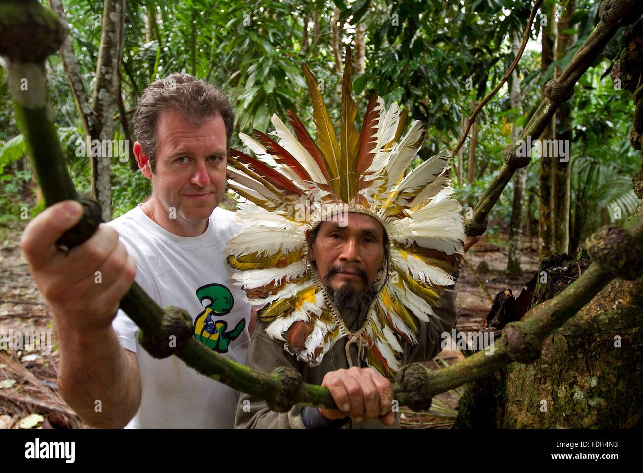 Shaman and naturopath. Alto Jurua. Croa, Brazil Stock Photo