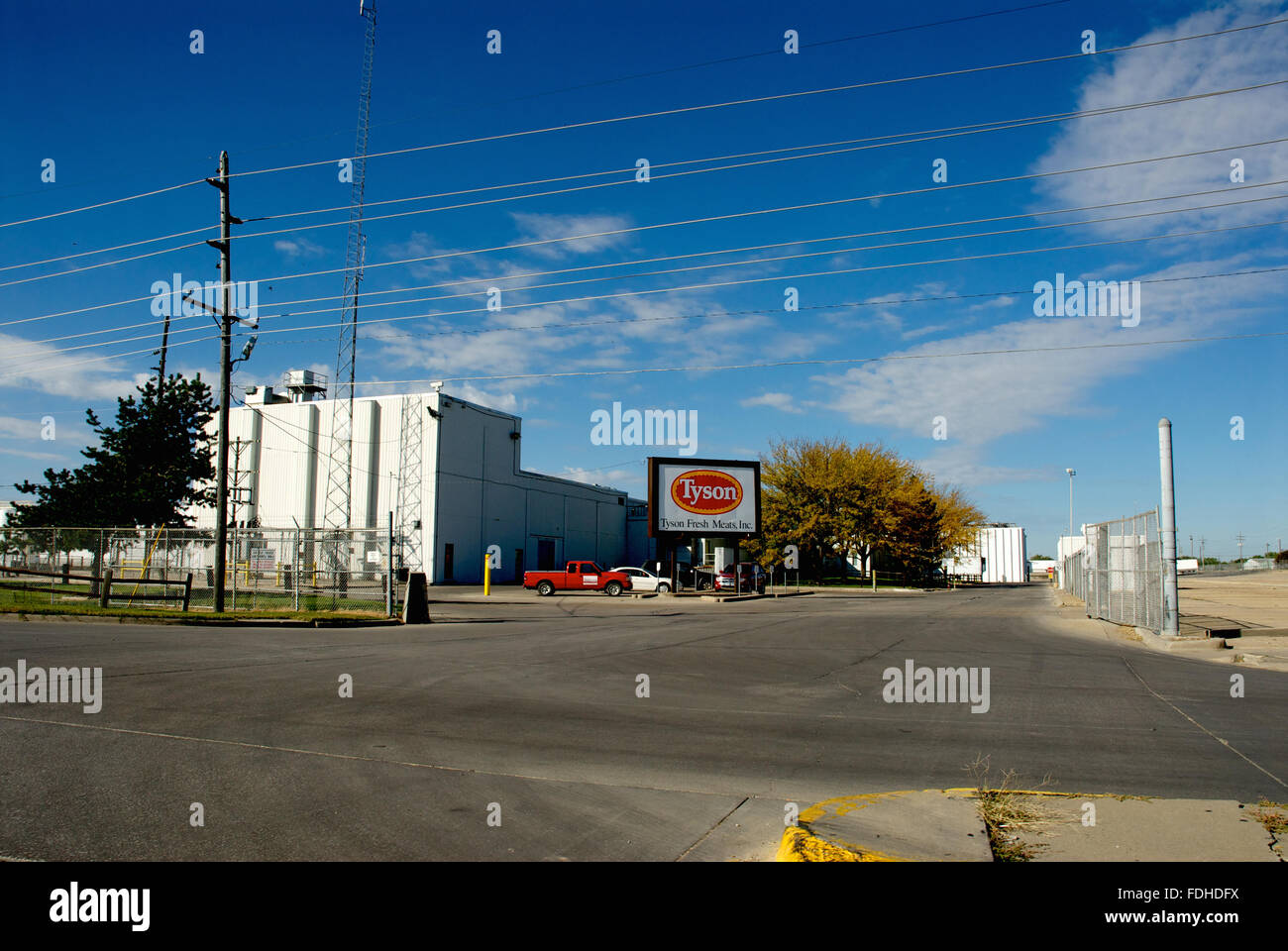 Emporia, Kansas, USA, 13th October, 2013 Tyson's meat and poultry processing  plant in  Emporia Kansas. Credit: - Stock Image