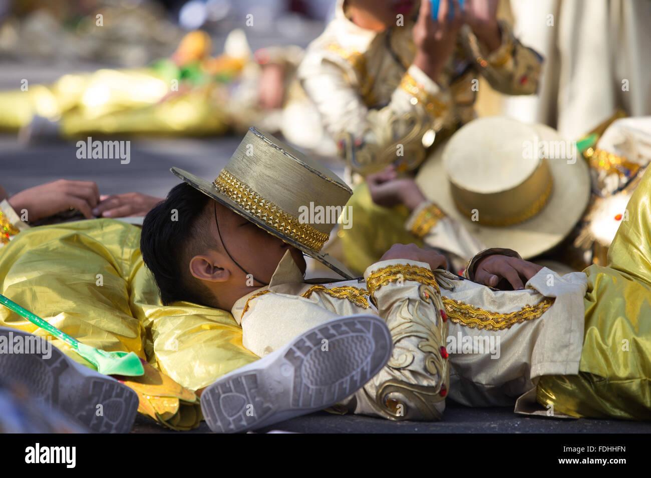 Cebu City,Philippines 17/01/2016.Sinulog Festival,Grande Street Parade. Stock Photo