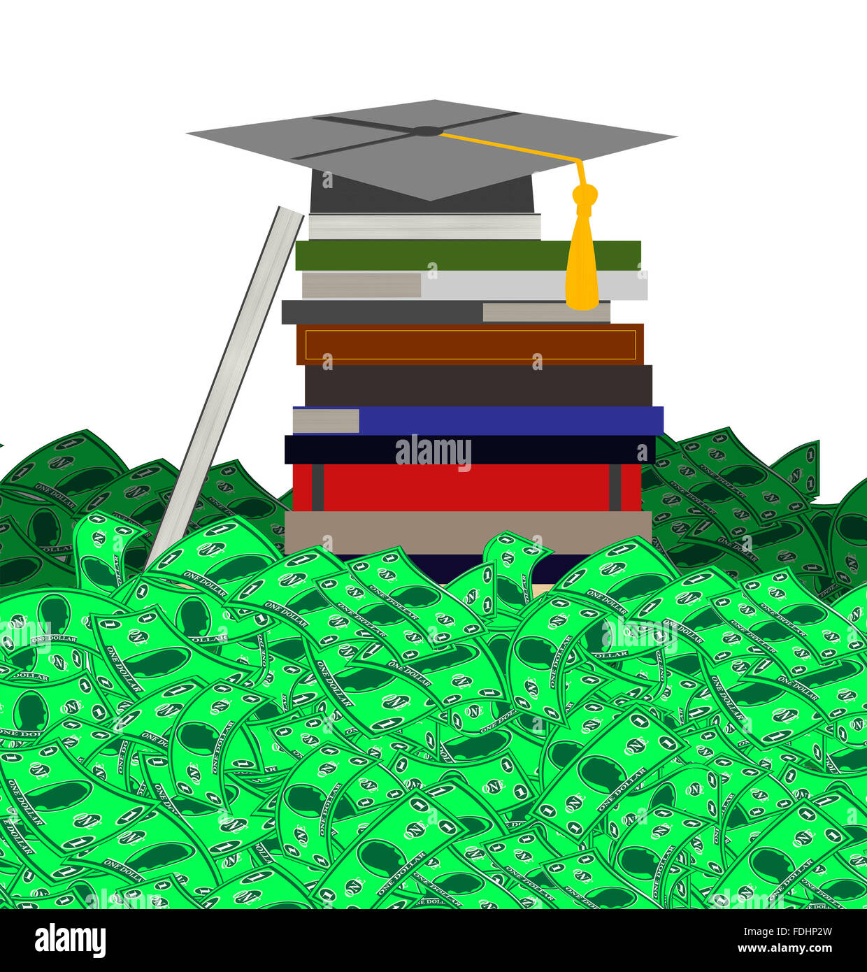 High Cost of College - Stock Image