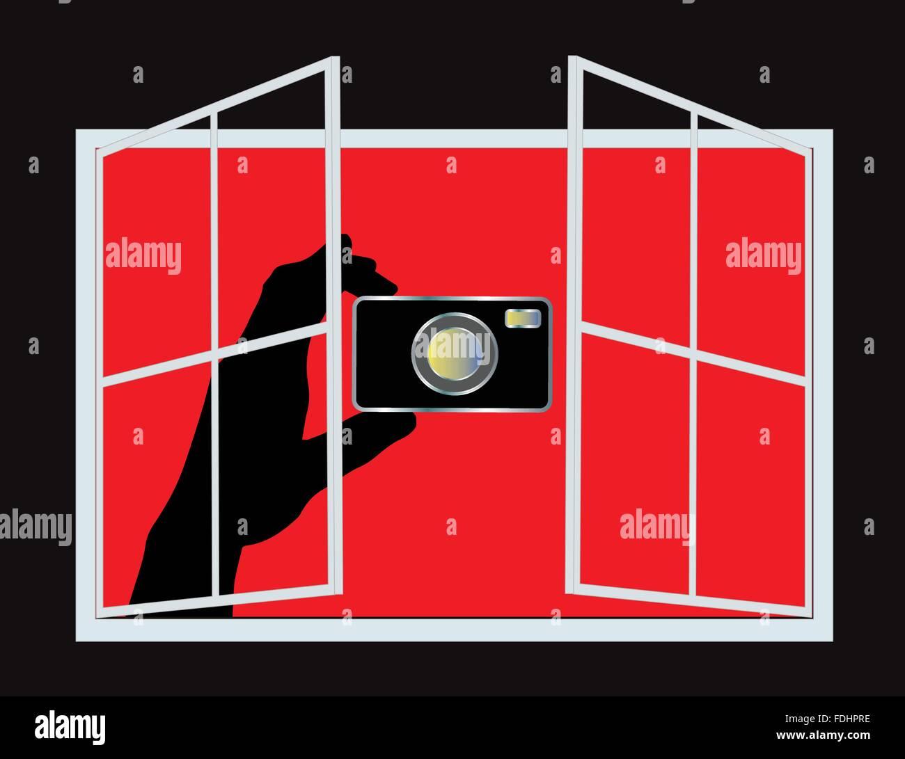 Spy Camera (Vector) - Stock Vector