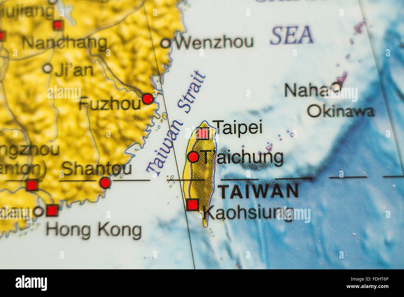 World map administrative divisions stock photos world map photo of a map of taiwan and the capital taipei stock image gumiabroncs Images