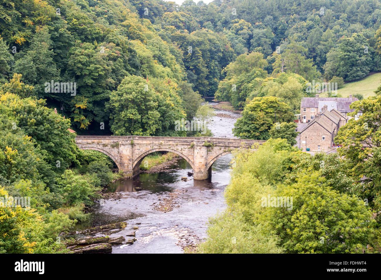 Bridge in Richmond, Yorkshire, England, UK. - Stock Image