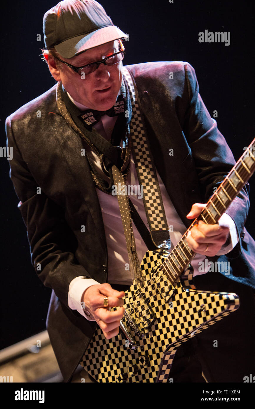 Rick Nielsen Of Cheap Trick Rocking His Guitar Stock Photo 94436264