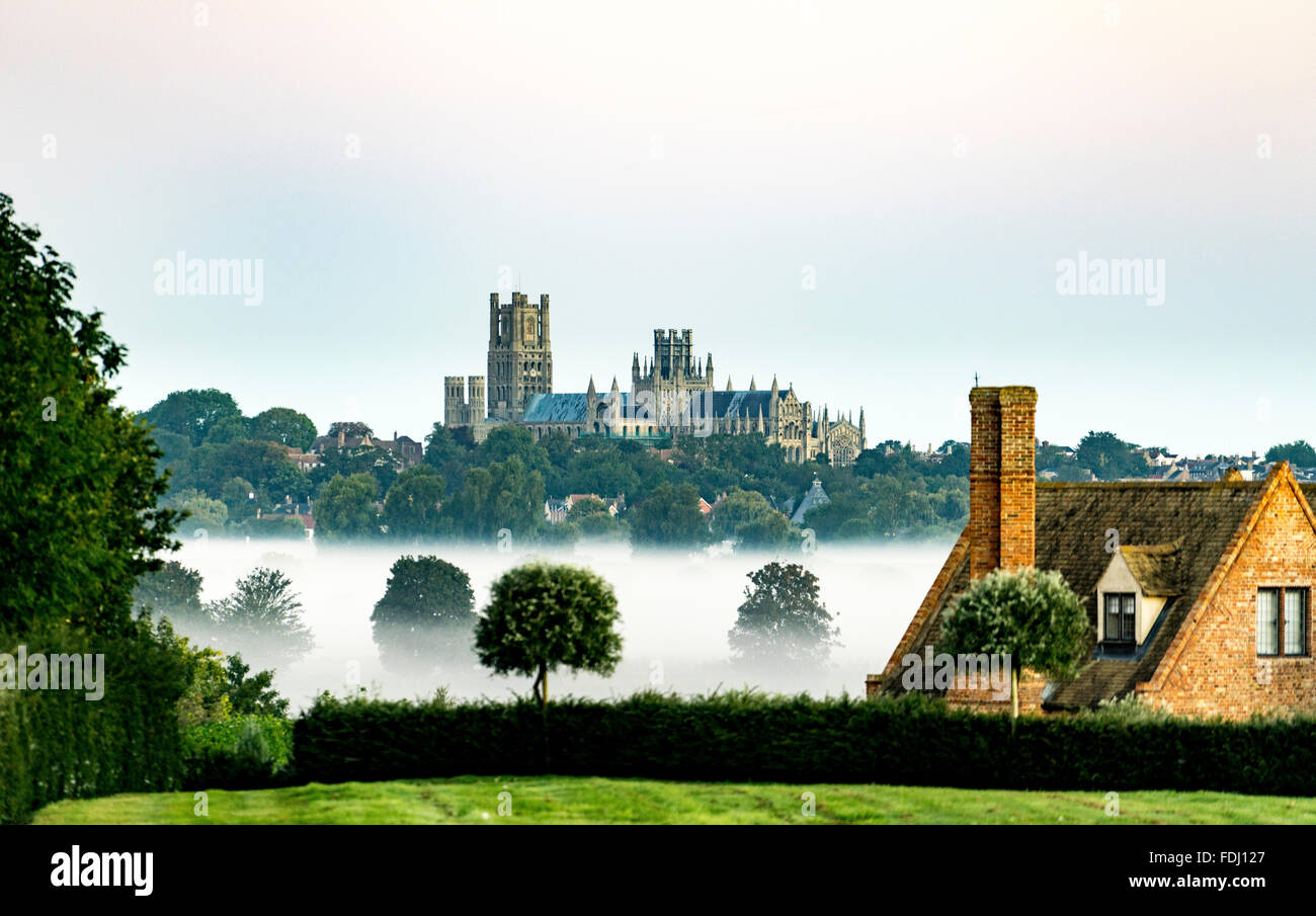 Ely Cathedral from Stuntney - Stock Image