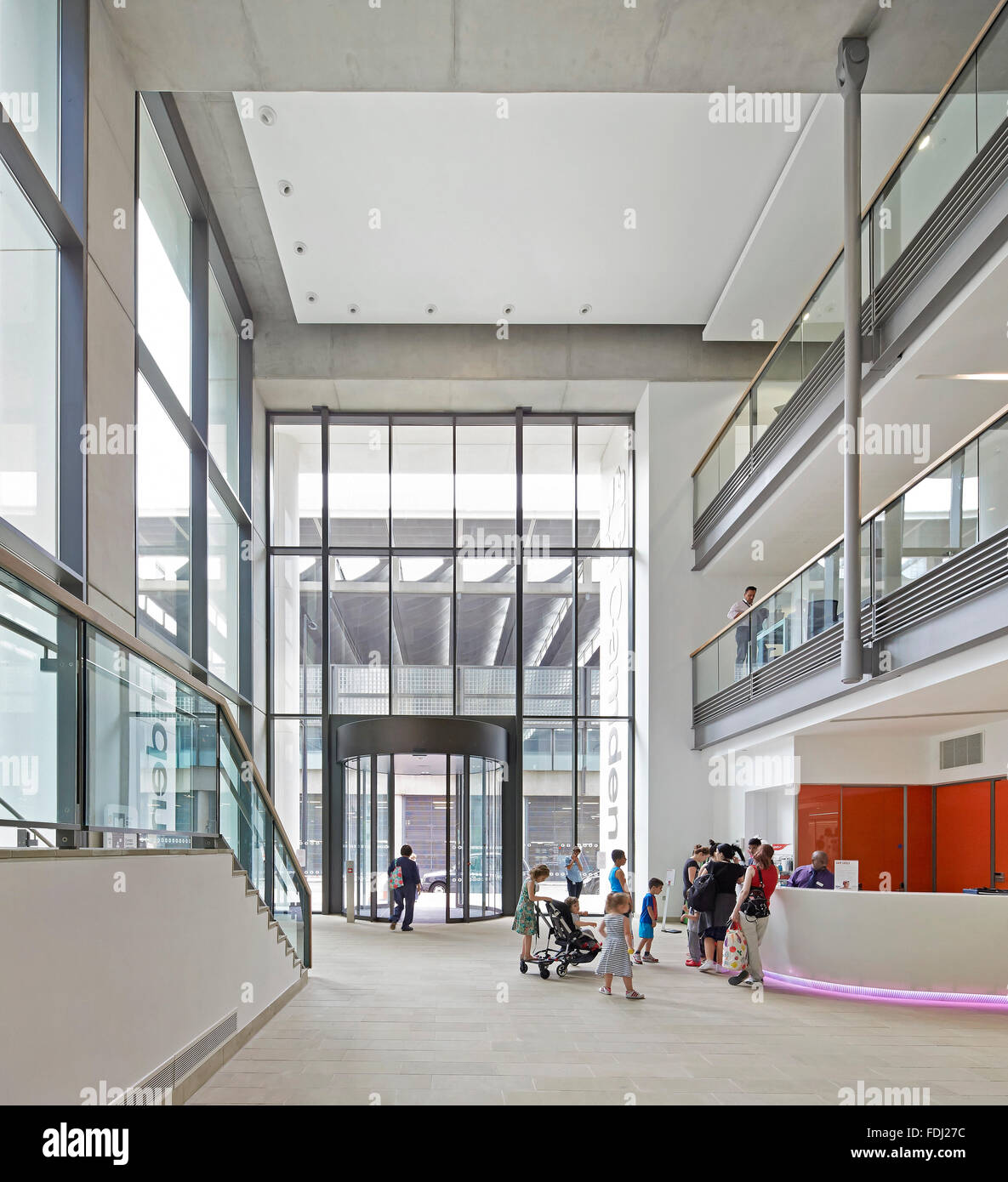 Foyer Architecture Zone : Double height entrance foyer with information desk and