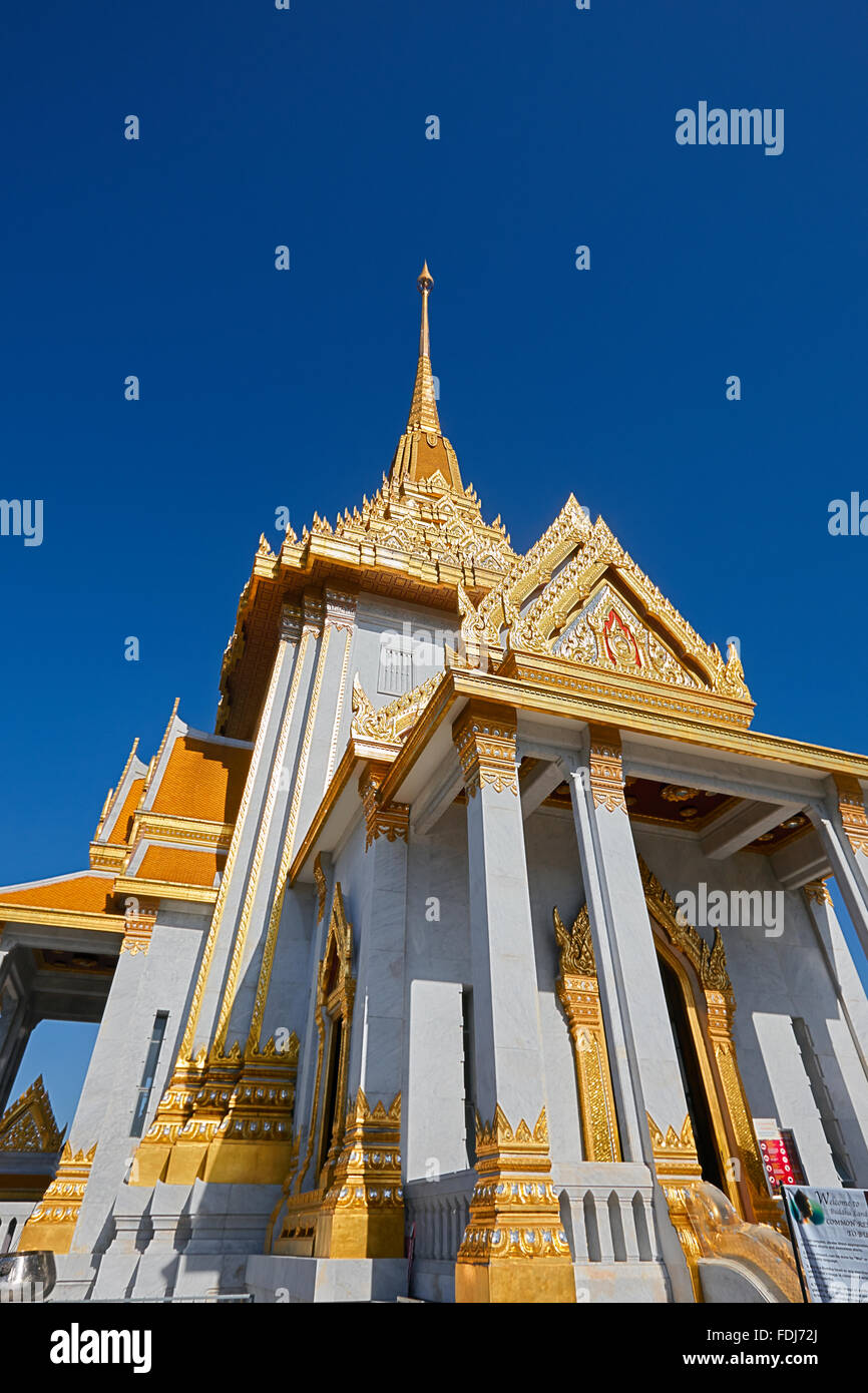 Wat Traimit Temple, Bangkok, Thailand. - Stock Image