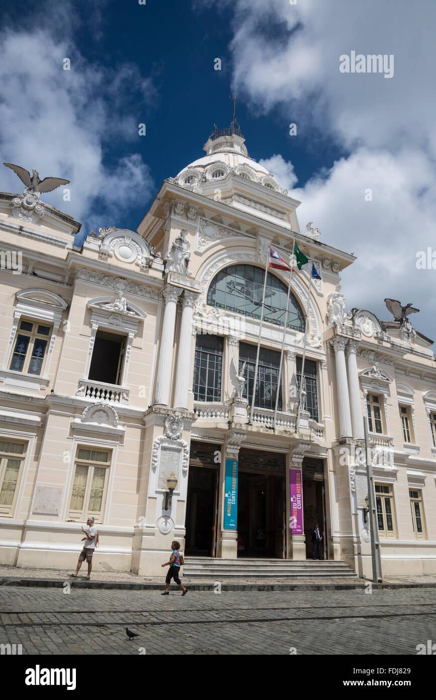 Palácio Rio Branco, Praça Tomé de Sousa also known as Praça Municipal, Salvador, Bahia, Brazil - Stock Image