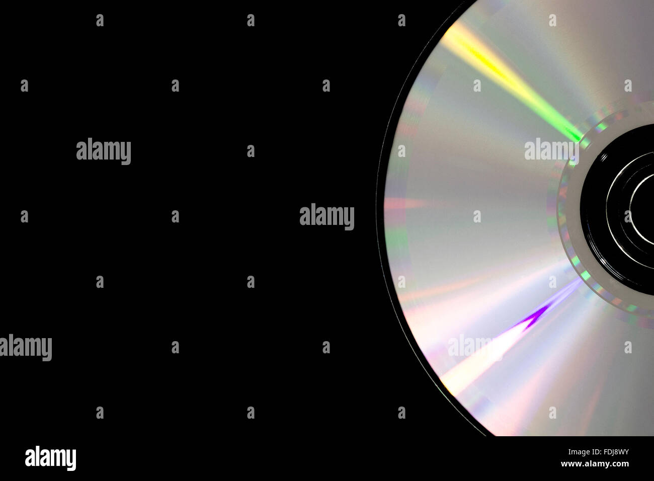 Part of cd disk - Stock Image