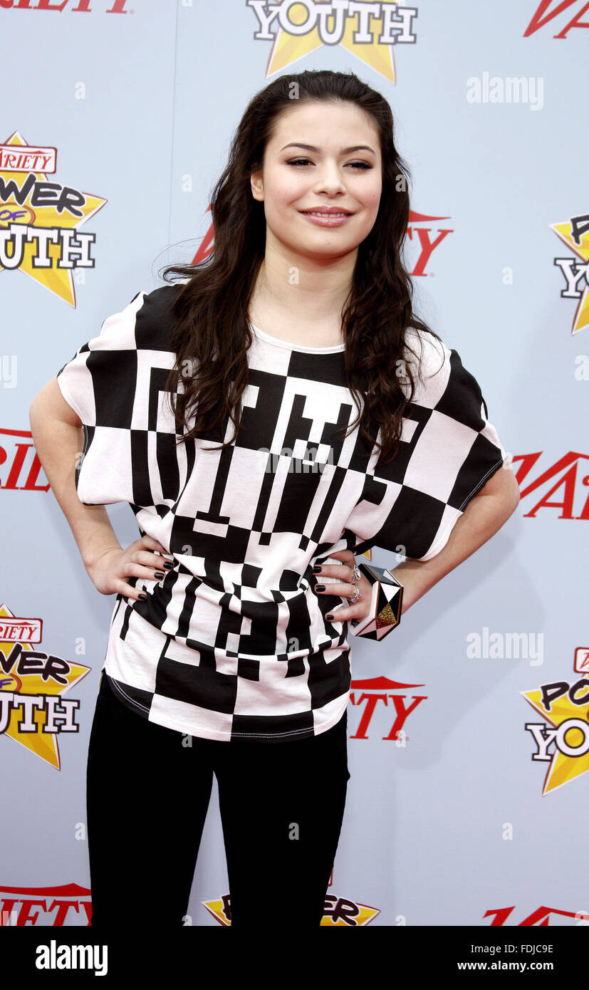 Miranda Cosgrove at the Variety's 3rd Annual Power of Youth Event held at the Paramount Pictures Studios in - Stock Image