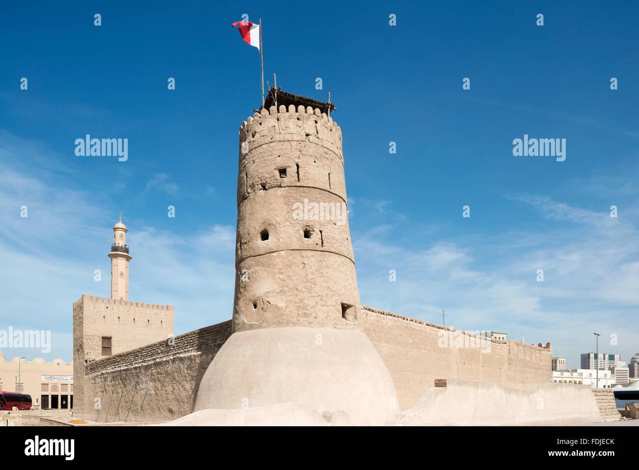 Al Fahidi Fort, Dubai Museum, Dubai, UAE - Stock Image