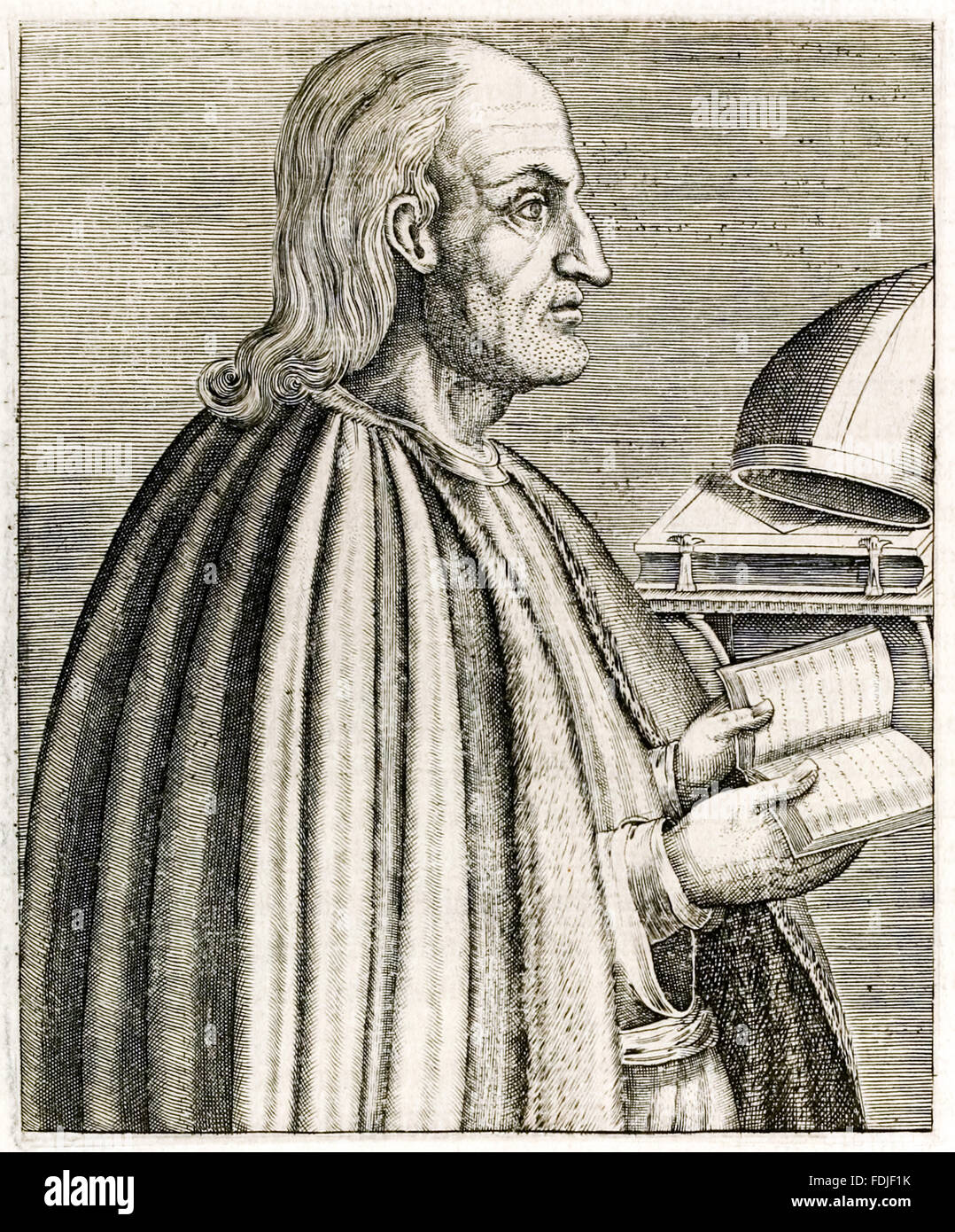 Saint Anselm of Canterbury (1033-1109) French Benedictine monk, philosopher and theologian who became Archbishop - Stock Image