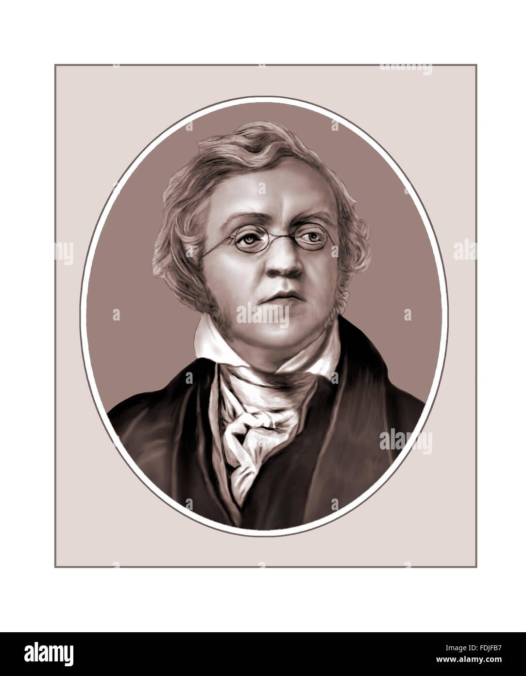 William Makepeace Thackeray, Novelist, Portrait Stock Photo