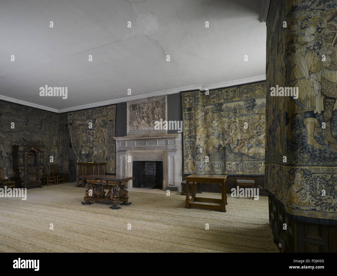 The Withdrawing Chamber At Hardwick Hall Derbyshire The Fireplace