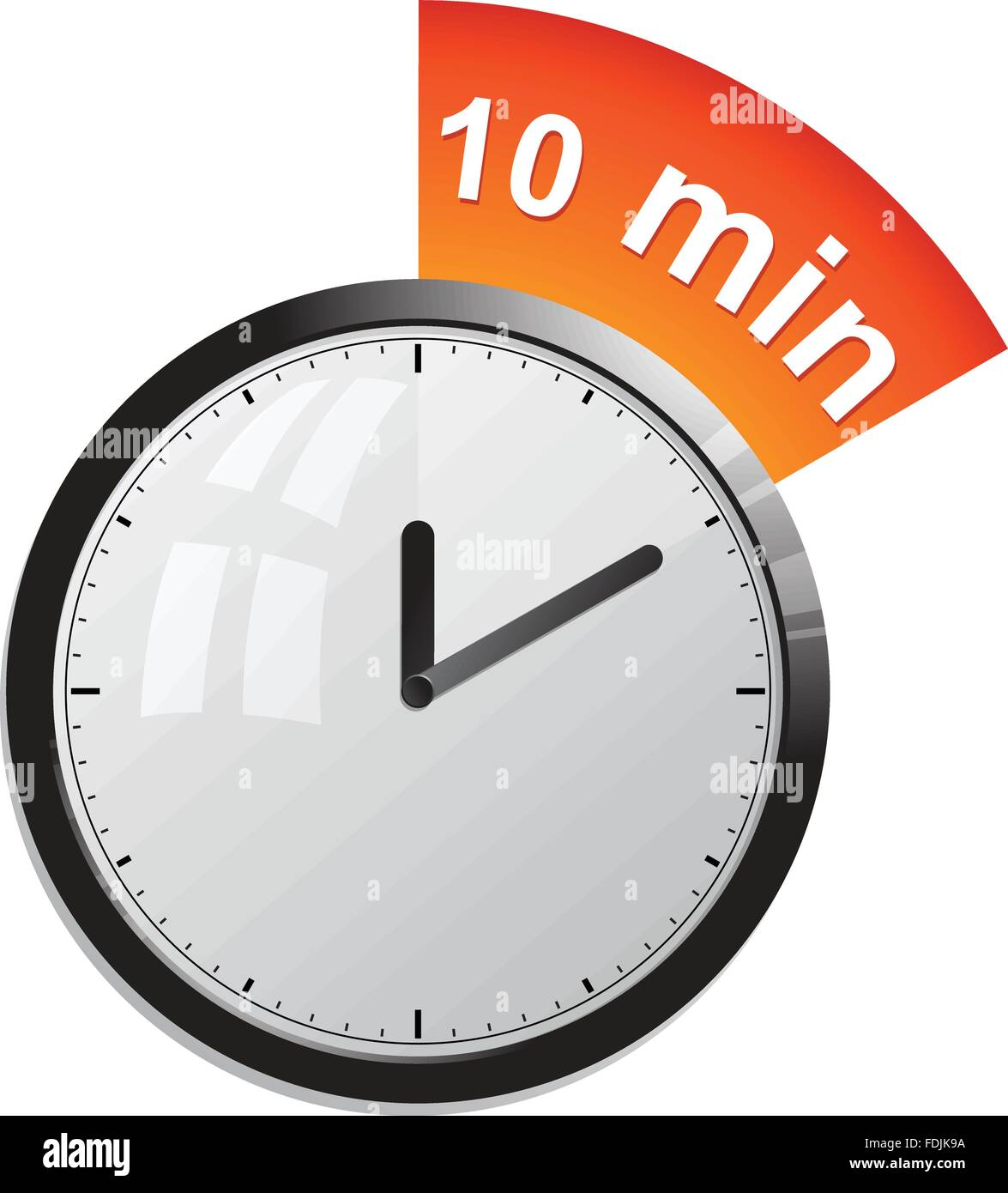 timer 10 minutes vector illustration stock image