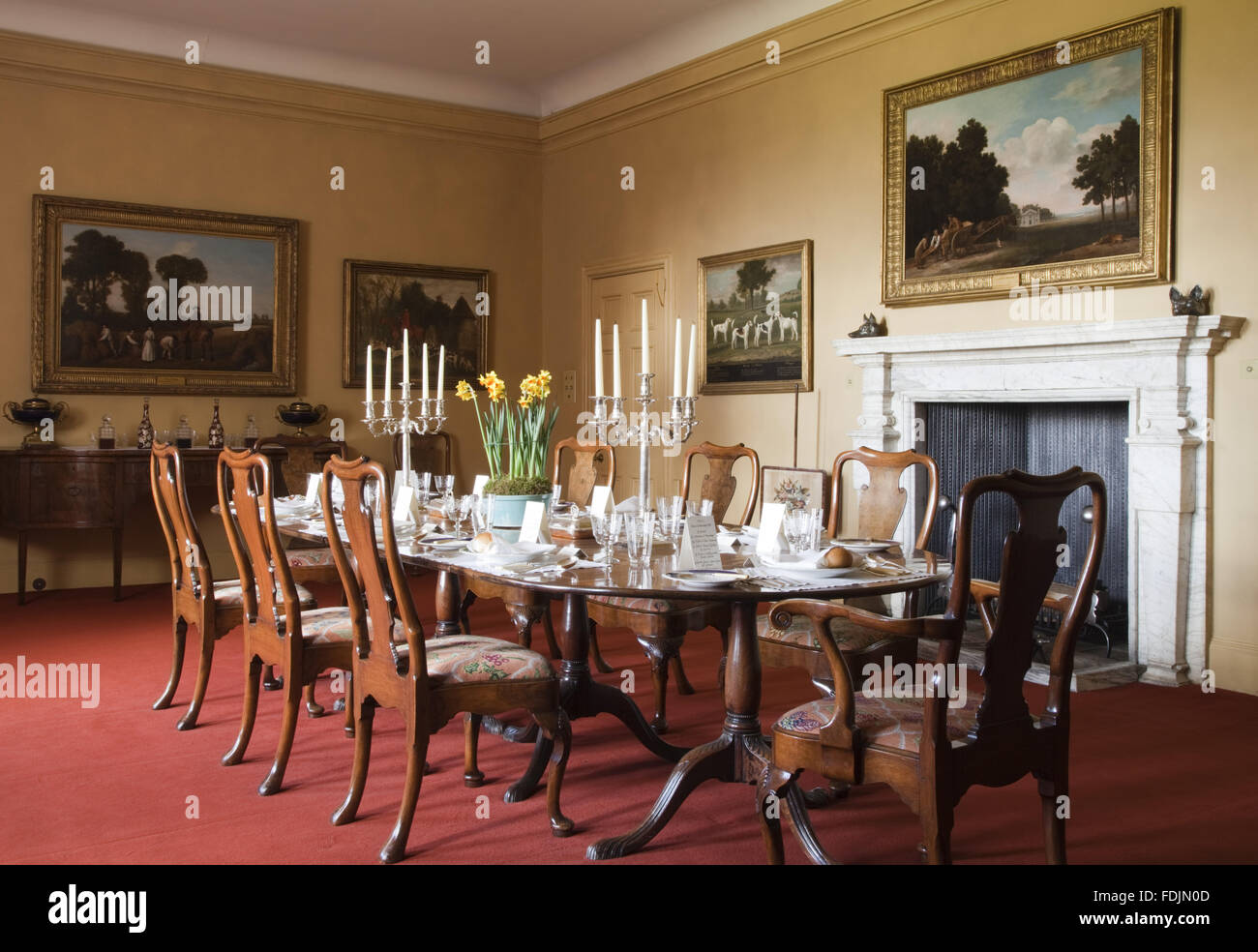 Super The Dining Room With Mahogany Table Laid With Full Dining Machost Co Dining Chair Design Ideas Machostcouk