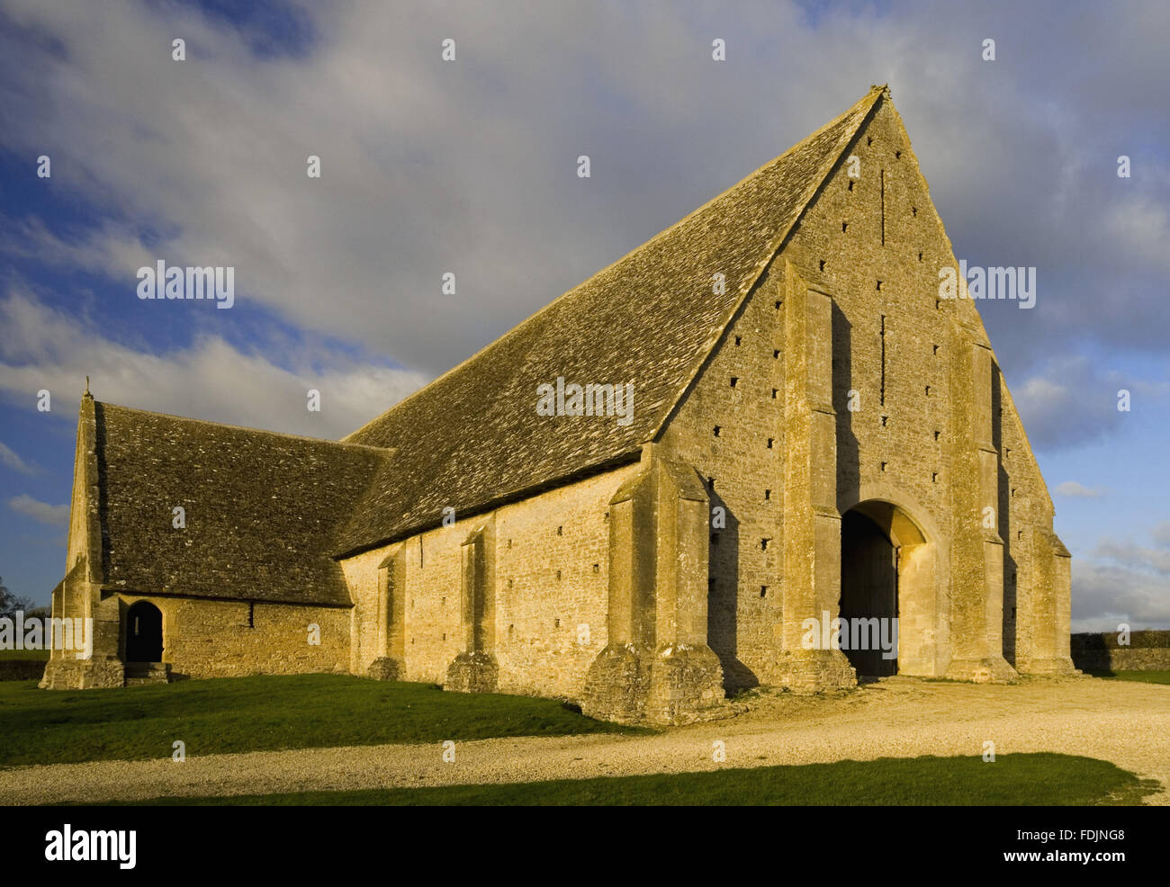 The mid-thirteenth century monastic Great Coxwell Barn near Faringdon in Oxfordshire. The large door at the end of the barn was an eighteenth-century ... & The mid-thirteenth century monastic Great Coxwell Barn near ...
