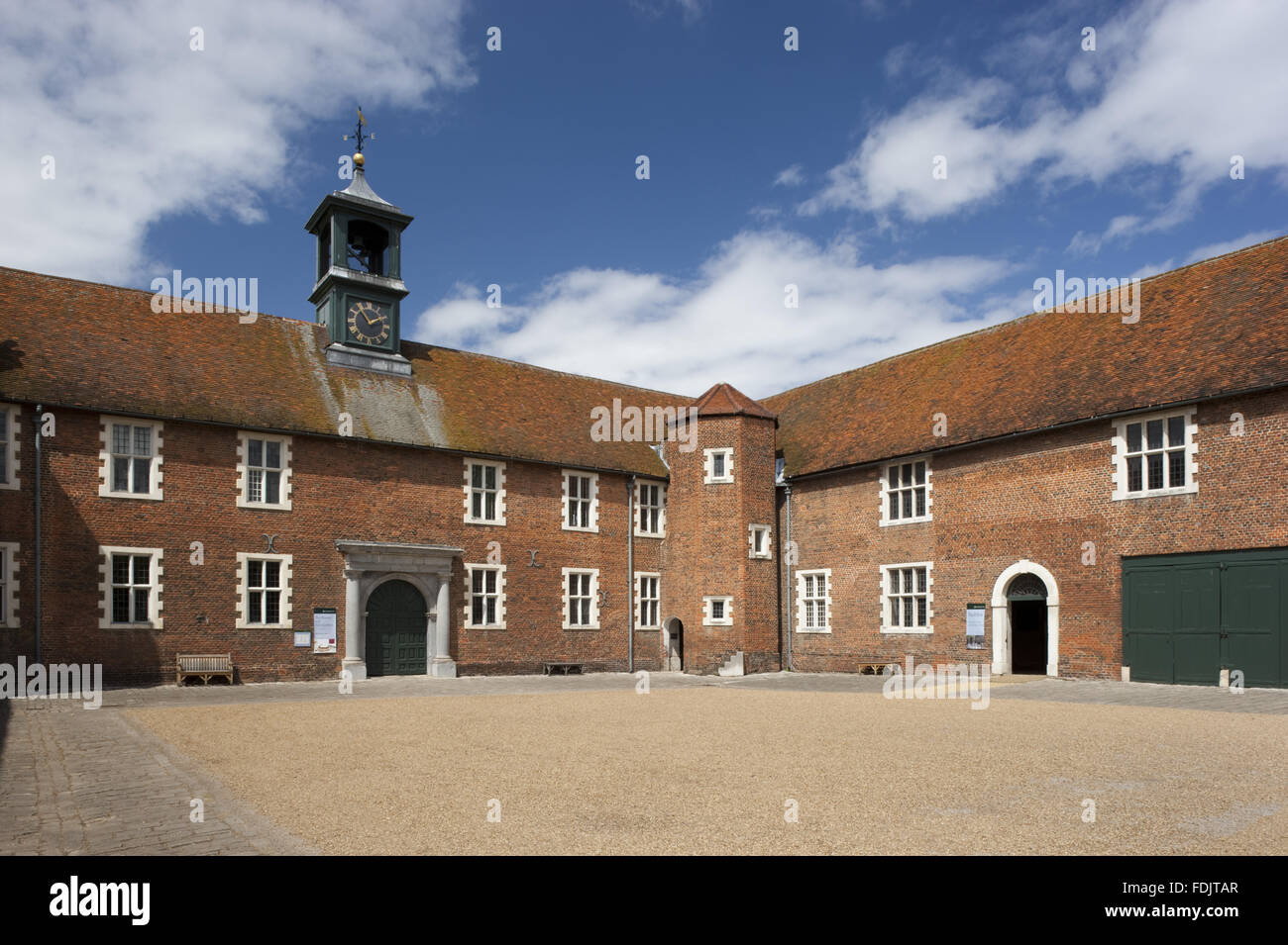 The stable courtyard at Osterley, Middlesex. A stable existed here in Elizabethan times but the present buildings - Stock Image