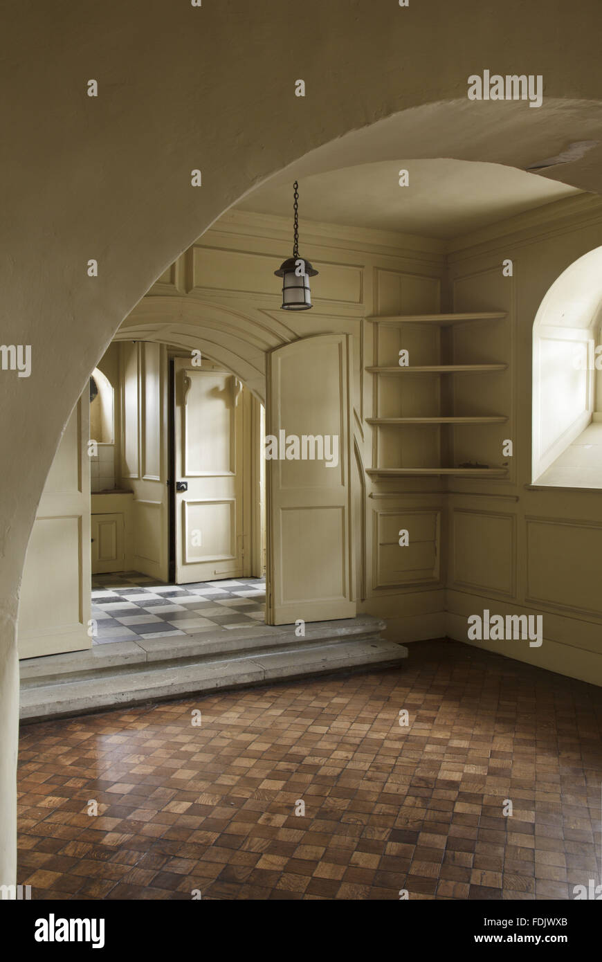 The Duchess's Bathroom at Ham House, Richmond-upon-Thames. 'The Bathing Roome' of the Duchess of Lauderdale - Stock Image
