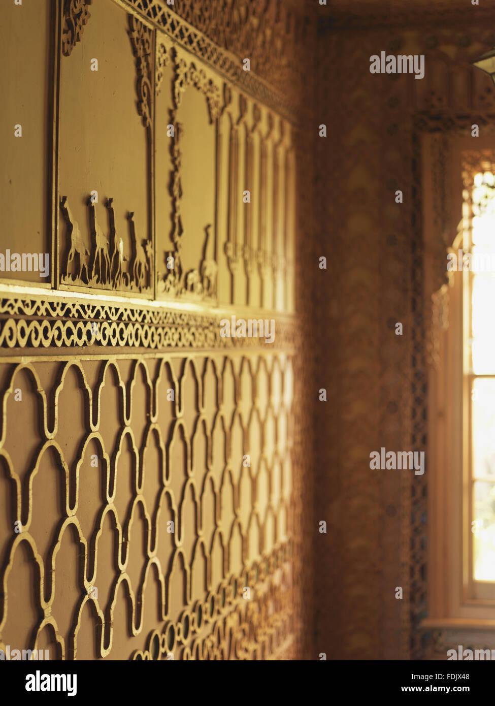 Decorative fretwork in the London home where poet Khadambi Asalache ...