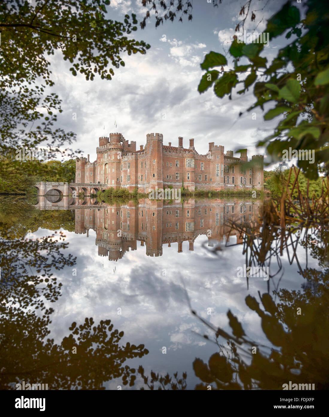 Herstmonceux Castle, East Sussex, England, UK - Stock Image