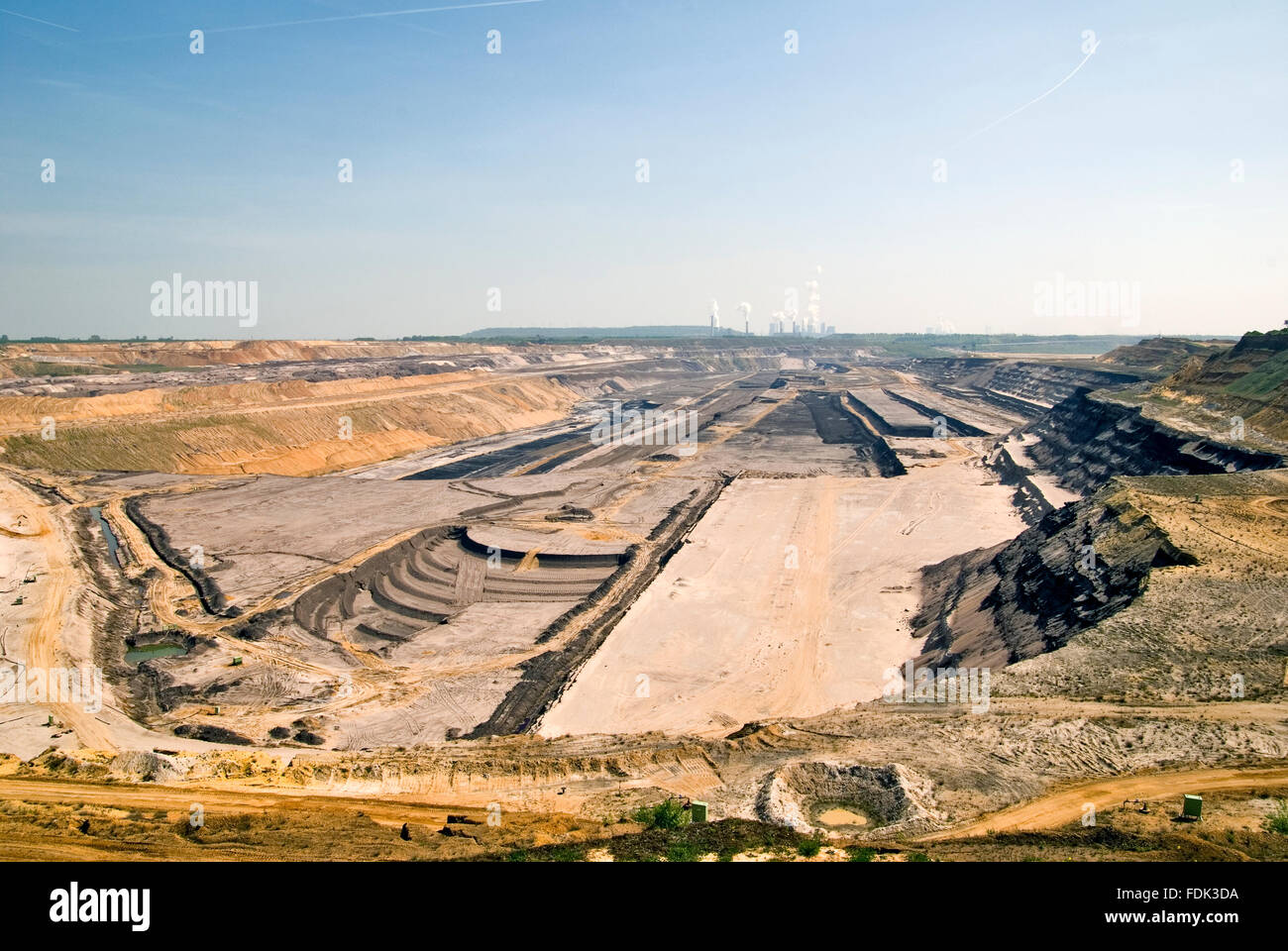 environmental damage,opencast,pit mine - Stock Image
