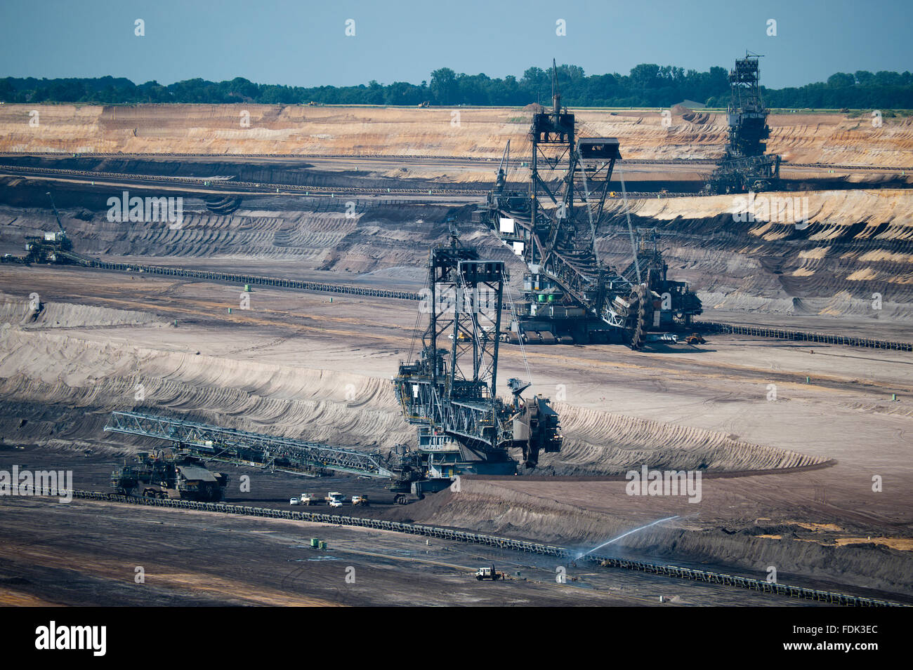 mining,opencast,garzweiler,bucket excavator,pit mine Stock Photo