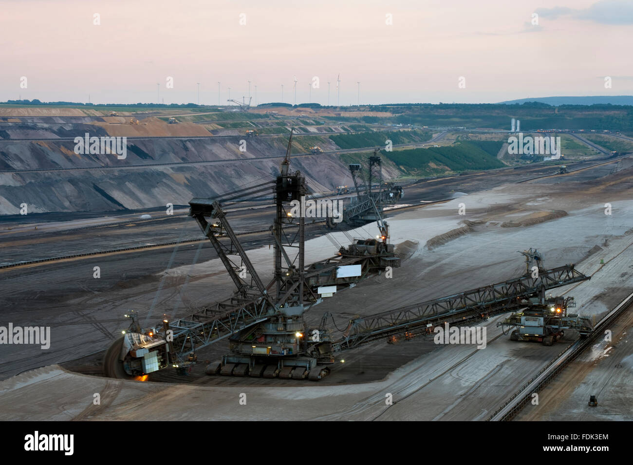 opencast,garzweiler,bucket excavator,pit mine Stock Photo