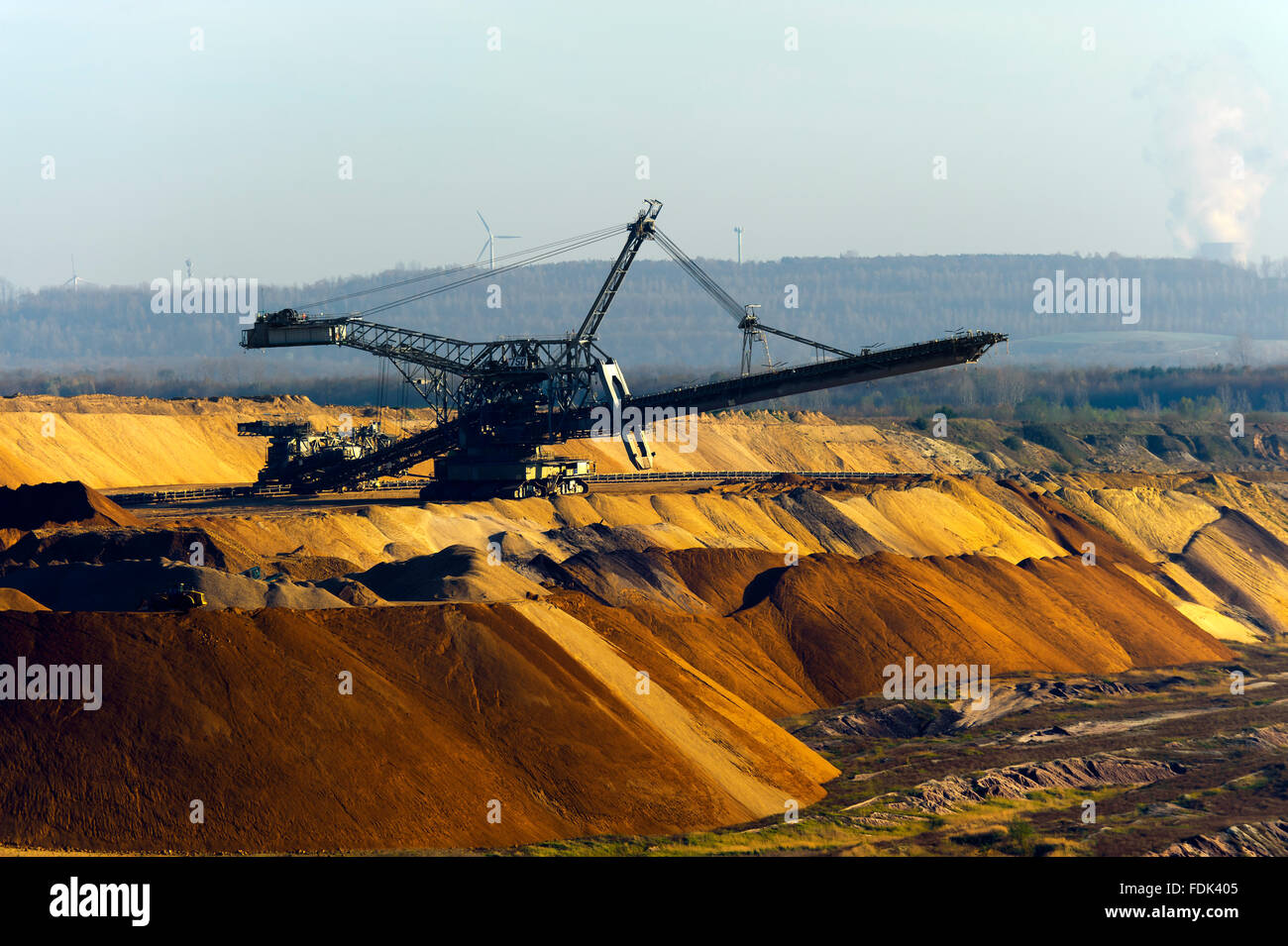 opencast,bucket excavator,pit mine - Stock Image