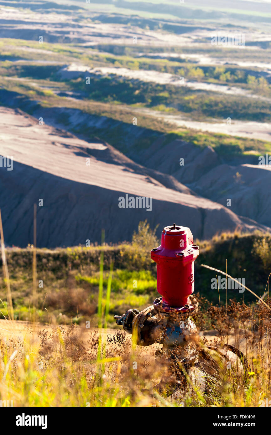 mining,opencast,fire hydrant,waterworks - Stock Image