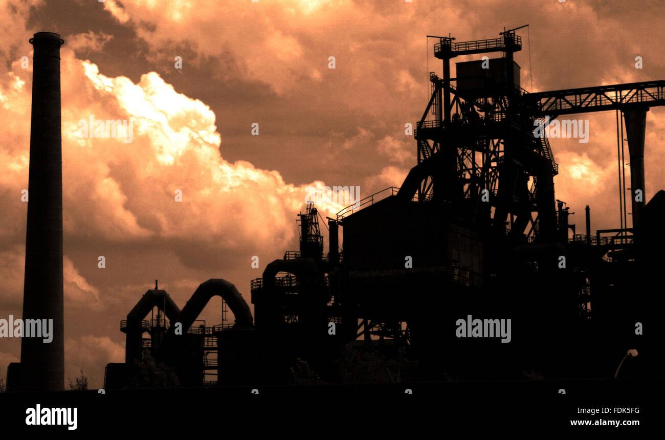 industrial landscape,mining,opencast - Stock Image