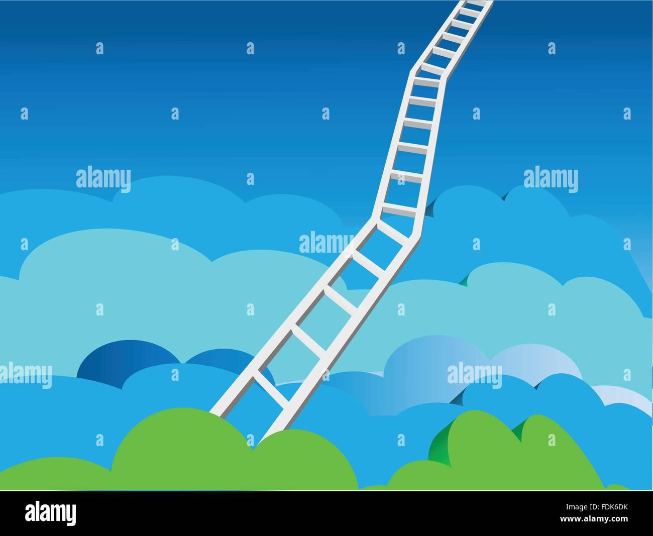 Heaven's Ladder - Stock Image