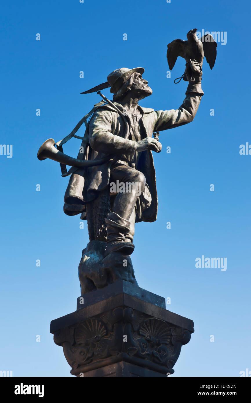 memorial,sculpture,falknerbrunnen - Stock Image