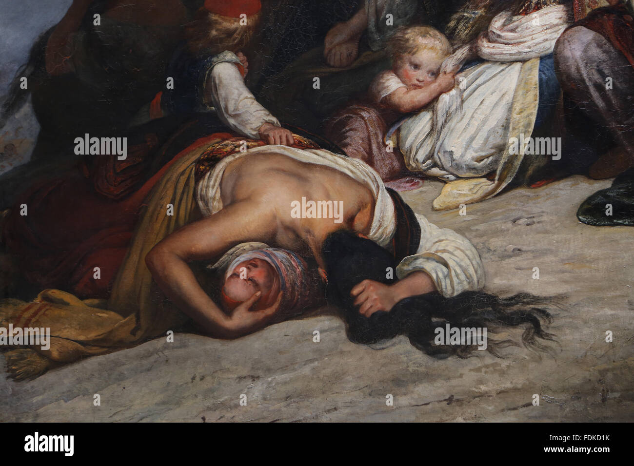 The women souliotes,1827. By Ary Scheffer (1795-1858). Heroic suicide of Souliote women. Souliote wars 1803. - Stock Image