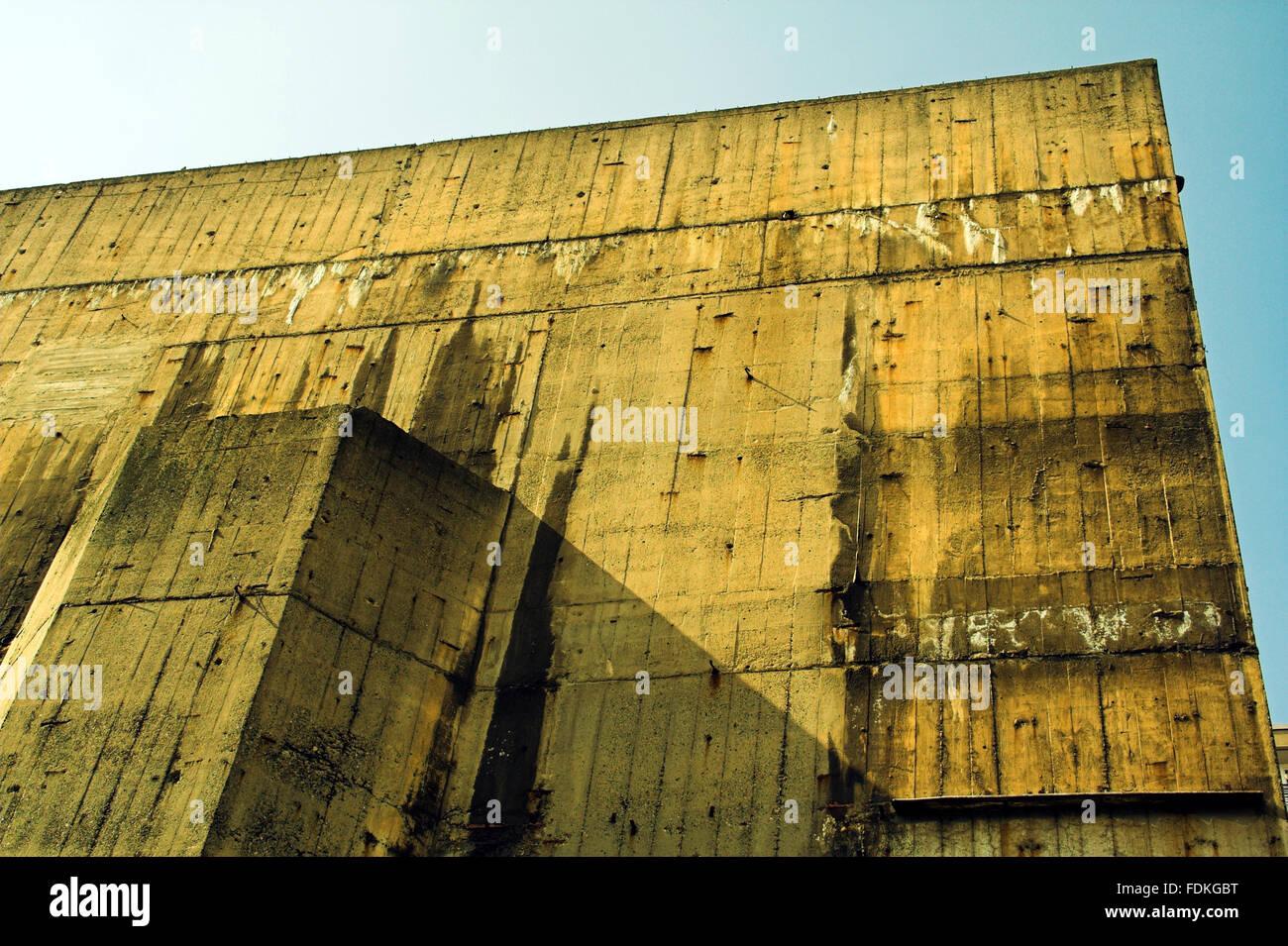 berlin,air raid shelter,high bunker Stock Photo