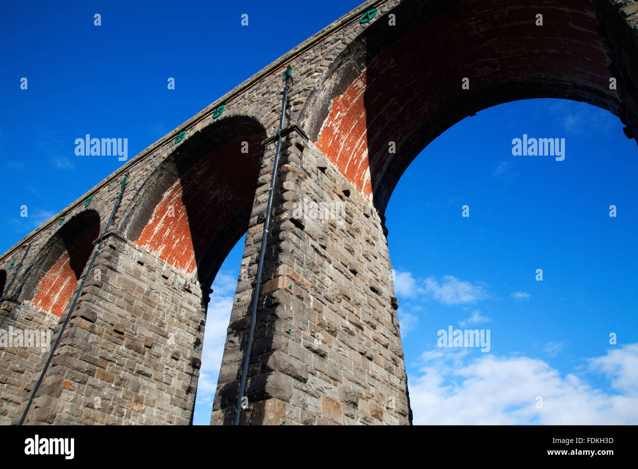Arches of the Ribblehead Viaduct Ribblehead Yorkshire Dales England - Stock Image