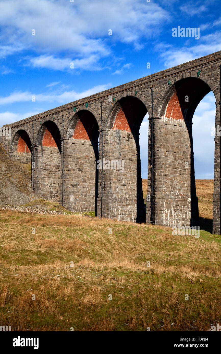 Arches of the Ribblehead Viaduct Ribblehead Yorkshire Dales England Stock Photo