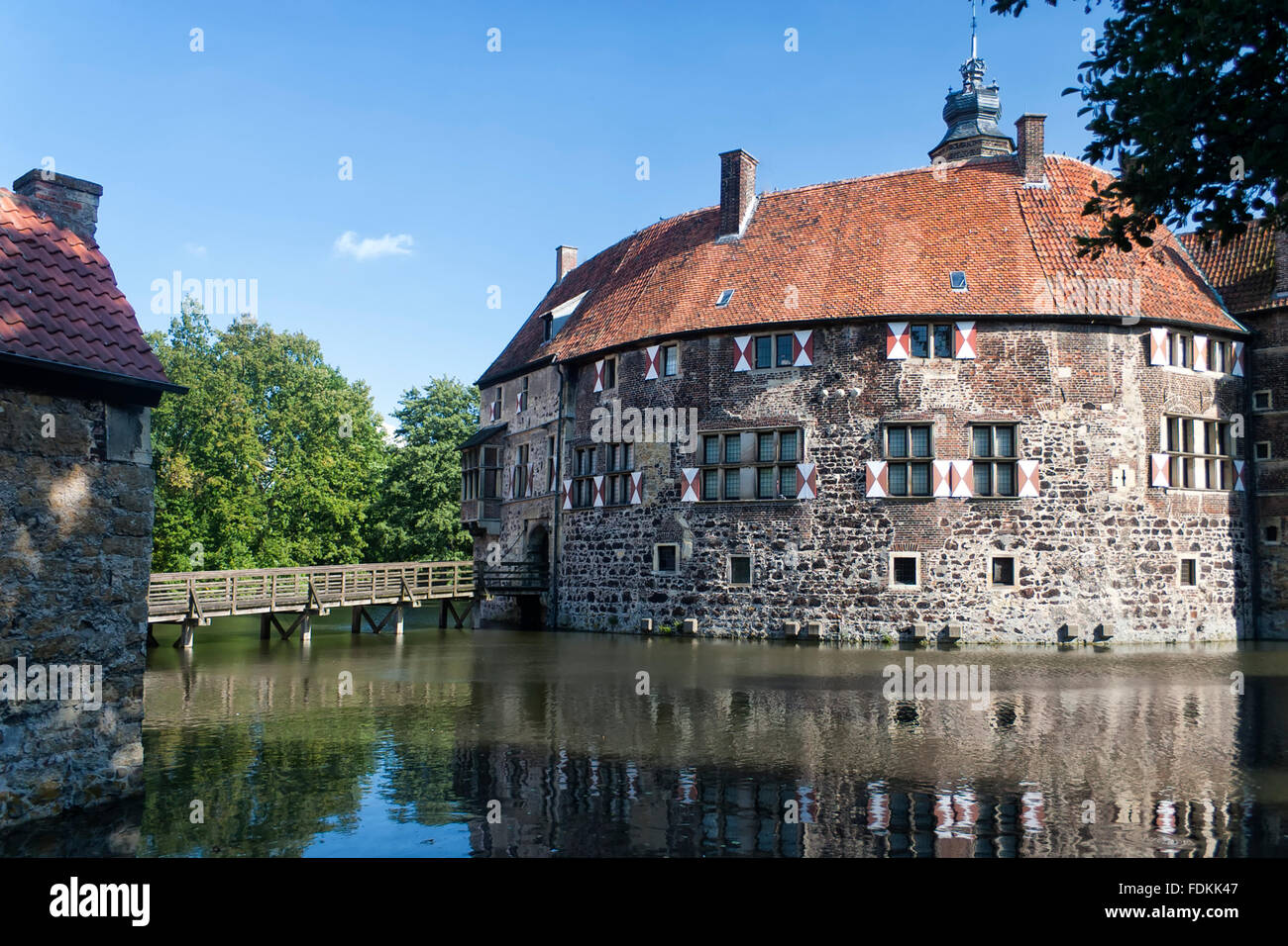castle,castle vischering - Stock Image